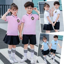 中(小)学ss校服英伦学ig体演出合唱服毕业照幼儿园园服夏季短袖