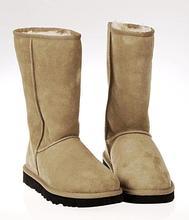 HOZst街DRAXrt06羊皮毛一体防滑保暖平底雪地靴高筒靴女靴包邮