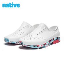 natstve shrt夏季男鞋女鞋Lennox舒适透气EVA运动休闲洞洞鞋凉鞋