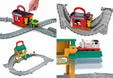 ISHstR-PRIcz费雪托马斯修理棚/发动机清洗THOMAS玩具轨道套装