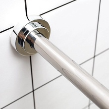 304st打孔伸缩晾ng室卫生间浴帘浴柜挂衣杆门帘杆窗帘支撑杆