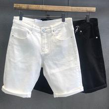 潮牌经典百搭黑白色牛仔短裤男士潮流st14020ph裤休闲五分裤