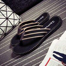 的字拖st防滑韩款潮ve沙滩个性凉拖夏季越南拖鞋男式夹板托鞋