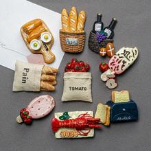 北欧仿st食物磁贴3ve个性创意装饰吸铁石可爱磁铁磁性贴