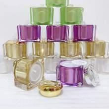 四方形st式高档亚克ck瓶化妆品分装瓶套装面霜盒空瓶子