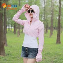 UV1st0骑车短式ne女夏季长袖防紫外线薄式透气外套防晒服61054