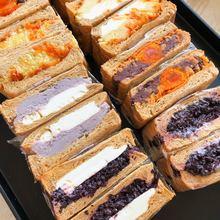 (小)春日食 低糖油杂粮吐司三明st11 芋泥ne酪肉松吐司早餐