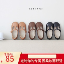 女童鞋st2021新au潮公主鞋复古洋气软底单鞋防滑(小)孩鞋宝宝鞋