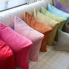 灯芯绒st发靠垫床头au腰枕汽车靠枕大号套不含芯