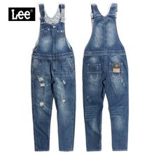 leest牌专柜正品au+薄式女士连体背带长裤牛仔裤 L15517AM11GV