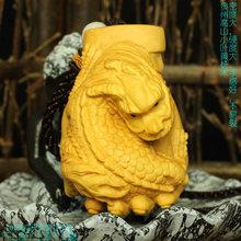 木石缘 (小)叶黄杨木红木雕龙st10手把玩ni球 手把龙 龙运在手