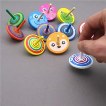 5个装st陀螺 手动de螺幼儿园教具(小)玩意男女孩子传统木质玩具