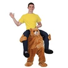 泰迪熊可爱st行魔性假腿io年会圣诞节搞笑服装道具