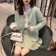 果果家st020春装io流苏香风毛衣外套女宽松显瘦甜美针织衫开衫