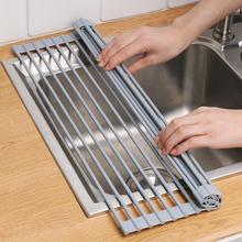 可折叠st水架水槽上ed架碗碟架厨房洗碗池放碗架沥水篮置物架