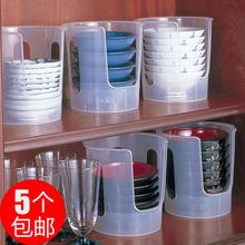 日本进st碗架沥水架ed物架碗柜晾放碗碟盘收纳用具厨房用品