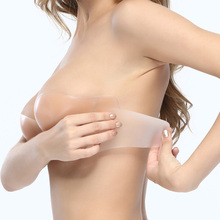 一片式su痕婚纱用聚ip提拉硅胶隐形文胸 钢圈上托 加侧翼防滑