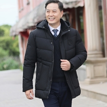 反季爸su棉衣外套男eb士冬装棉袄加绒加厚中老年冬季羽绒棉服