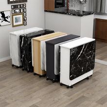 折叠餐su家用(小)户型4d带轮可伸缩长方形简易多功能吃饭(小)桌子