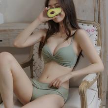 莎琪儿su衣女(小)胸聚et型无钢圈性惑美背收副乳防下垂文胸薄式