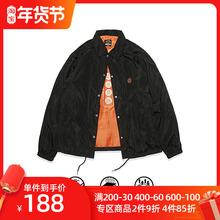 S-SsuDUCE ri0 食钓秋季新品设计师教练夹克外套男女同式休闲加绒