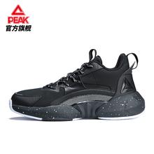 匹克实战篮球鞋男 su6020冬ve磨运动鞋 黑色低帮减震球鞋45码