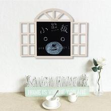 田园风su创意假窗户an墙面墙壁墙上配电表电闸箱遮挡木质黑板