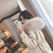 202su年冬装新式en腰棉服女装中长式加厚棉衣棉袄冬季工装外套