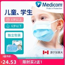 Medsucom麦迪ng性宝宝幼儿园学生婴幼儿大童熔喷布独立装