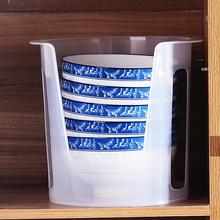 日本Ssw大号塑料碗us沥水碗碟收纳架抗菌防震收纳餐具架