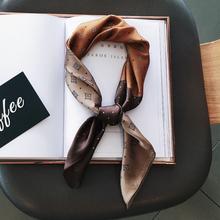 inssx质(小)方巾(小)an 秋冬季百搭护颈领巾围巾头巾韩国新式韩款
