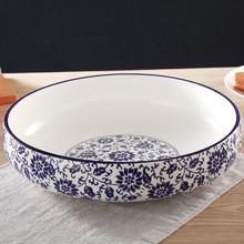 青花瓷sx煮鱼碗汤碗fb店用大号陶瓷汤碗酸菜鱼盆汤盆大码菜碗