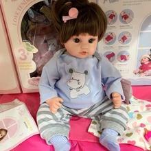 宝宝情sx会耶玩具兹wq的洋娃娃胶智能感应女孩软娃娃重生仿真