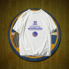 金州勇sx队服库里纪wq季纯棉篮球运动短袖t恤衫宽松半袖T恤潮