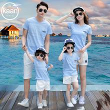海边夏sy2020新sy三口全家装母女母子时尚洋气运动套装