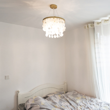 卧室灯sy欧ins少sy美式房间灯后现代楼梯网红服装店贝壳吊灯