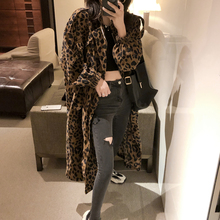 曾(小)咸sy豹纹风衣女sy秋季2020流行薄式韩款宽松工装外套ins潮