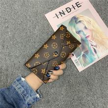 复古印sy女式钱包女vi020新式潮ins搭扣卡包手拿多卡位子母包
