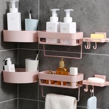 卫生间sy物架壁挂浴gy式厕所收纳架吸盘洗漱台免打孔收纳用品