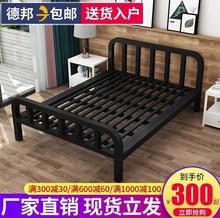 简约铁sz床单的床1yr铁架床欧式风格双的床实木家用经济型