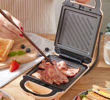 三明治机家用sz3食机多功fs三文治机双盘烤面包机早餐机神器