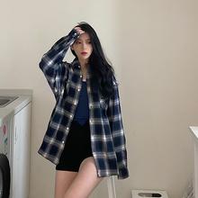 KTDA 19F/W 潮牌新式黑白格子sz16f风情wc男女宽松格子衬衫