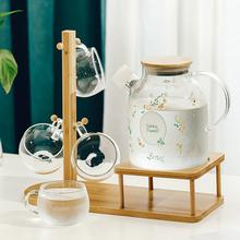 日式耐sz温玻璃冷水rz大容量家用防爆泡茶壶凉白开水杯凉水壶