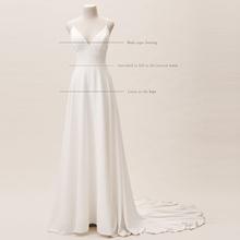 法式轻t2纱软绸缎面2w019新式新娘森系旅拍简约礼服(小)个子定制