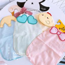 3条包邮 秋ta纱布婴儿吸le棉儿童立体隔汗巾拍咯垫背巾新生儿