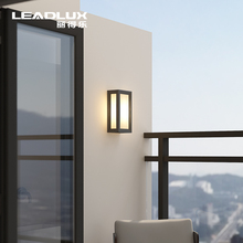 户外阳ta防水壁灯北le简约LED超亮新中式露台庭院灯室外墙灯