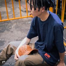 Battlta2s嘻哈街la搭纯色圆领打底衫简约宽松纯棉情侣休闲T恤