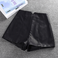 皮短裤ta2020春rl时尚百搭外穿秋冬季高腰皮裤显瘦打底靴裤潮