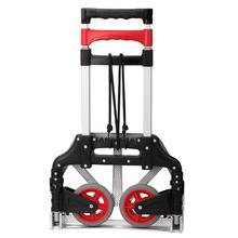 春季新ta红色可折叠an拉杆式手拉车便携式折叠行李搬运车带绳