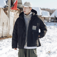 [taehyunfan]冬季工装风黑色白鸭绒轻薄